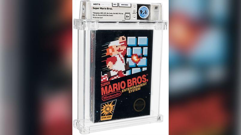 Imagem ilustrativa da notícia: Jogo Super Mario Bros. de 1986 é vendido por R$ 3,7 milhões