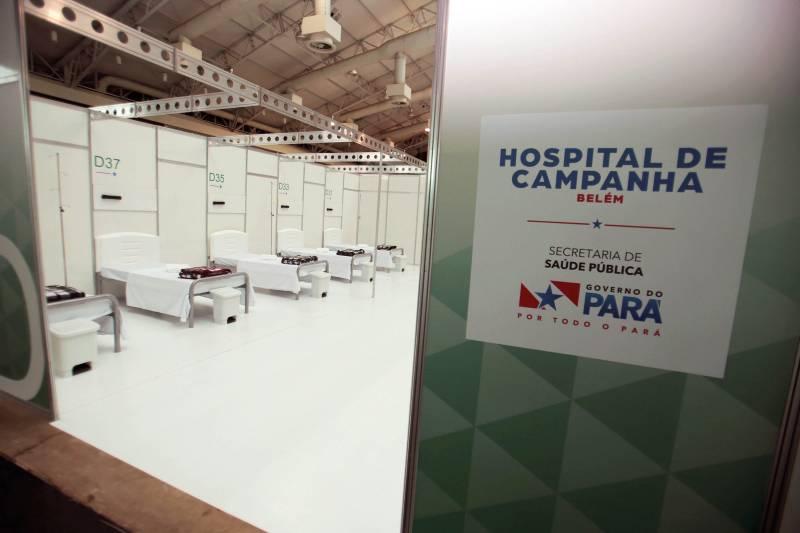 Imagem ilustrativa da notícia: Sespa abre mais 50 leitos no Hospital de Campanha do Hangar
