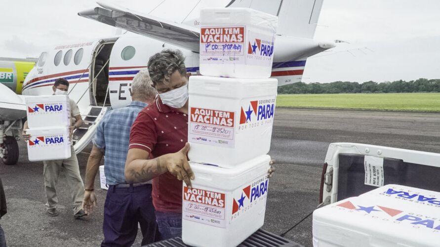 Imunizantes foram enviados aos demais municípios da região ou ficaram em depósito em Santarém para serem retirados pelos gestores