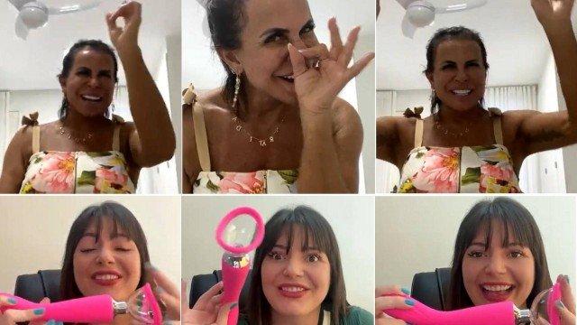 Imagem ilustrativa da notícia: Gretchen revela gaveta de 'brinquedos' e se empolga com vibrador em live