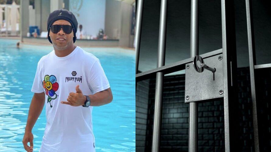 Ronaldinho Gaúcho está em Dubai e já se envolveu em problemas com a Justiça ao ser preso com passaporte falso no Paraguai.