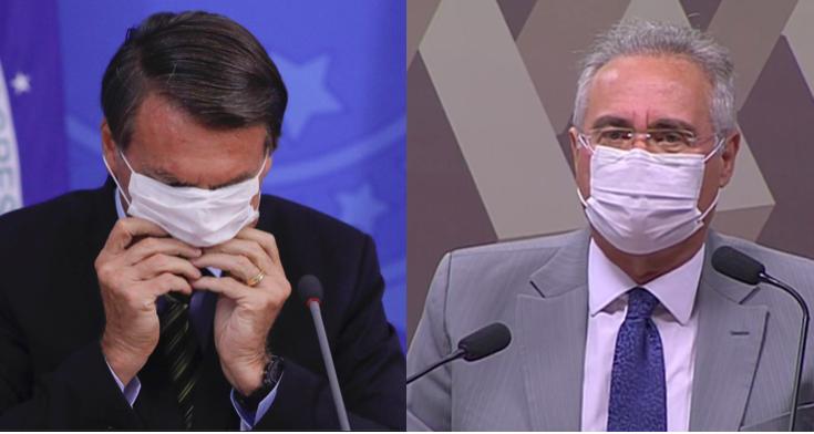 Imagem ilustrativa da notícia: Bolsonaro chama Renan de vagabundo e diz que CPI é um crime