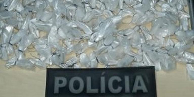 O suspeito foi conduzido junto com o material apreendido para a Delegacia de Salinópolis