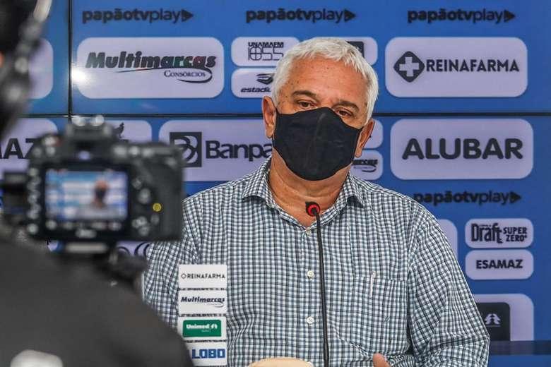 Presidente Mauricio Ettinger espera melhor rendimento do Paysandu contra o Bragantino.
