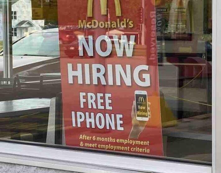 McDonald's oferece iPhone para quem trabalhar em estabelecimento.