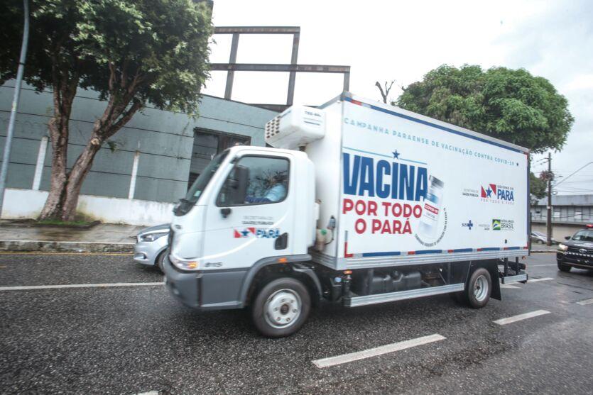Primeiro lote da Pfizer chegou em Belém
