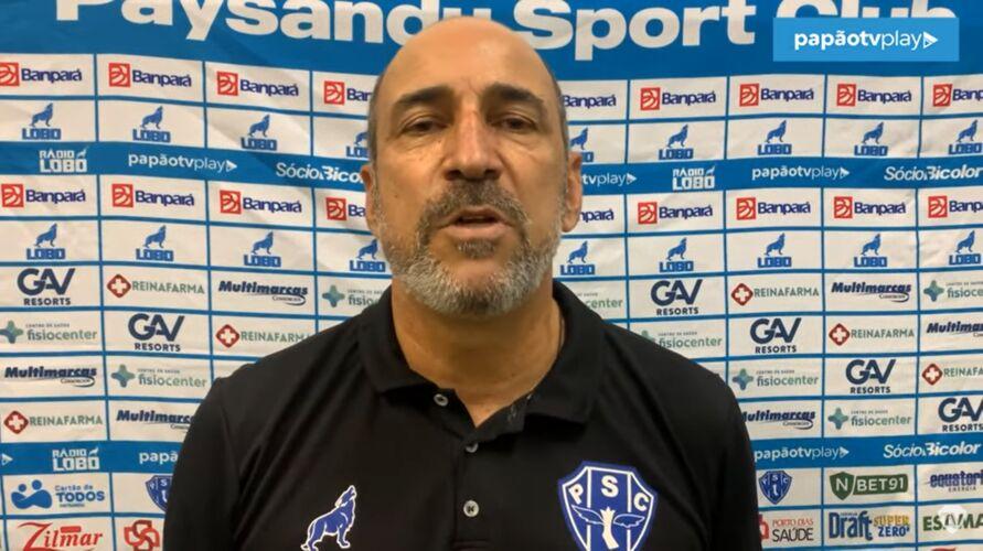 Técnico Vinicius Eutrópio conquista primeia vitória à frente do Paysandu