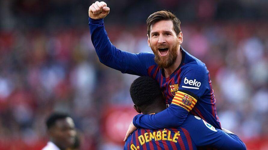 Messi em comemoração ao gol do Braça