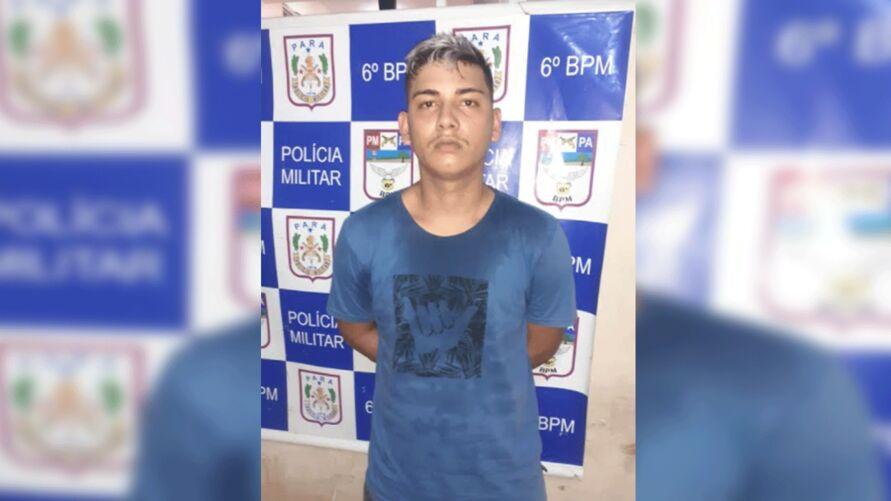 Mateus Silva Lima, 20 anos, tentou fugir: sem sucesso. Foi preso com maconha e cocaína.
