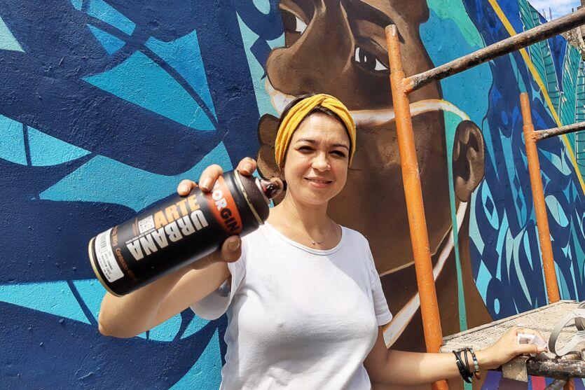 Muro vencedor foi produzido e assinado pela artista visual Drika Chagas.