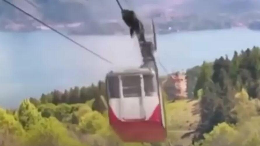 A cabine desceu a cerca de 100 km/h antes de cair.