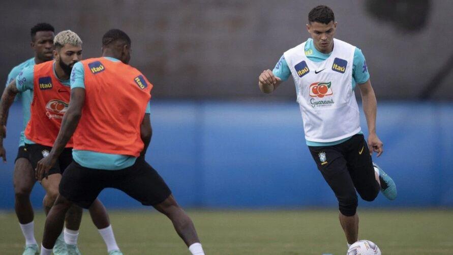 Thiago Silva e Gabigol serão titulares em jogo contra a seleção peruana.