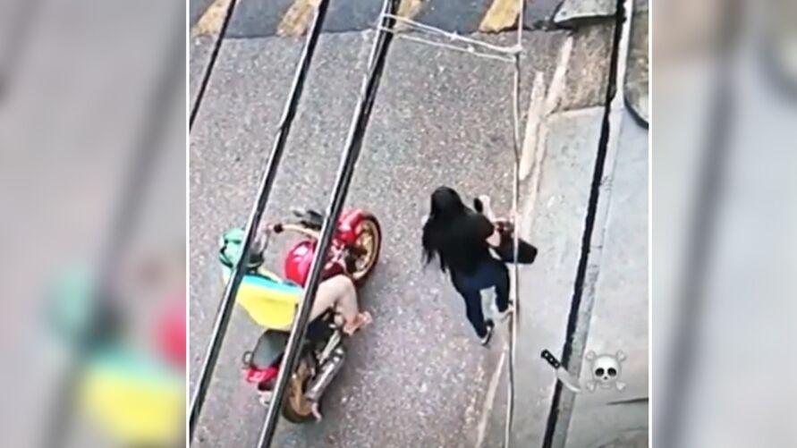 Tentativa de assalto foi registrada em  plena luz do dia