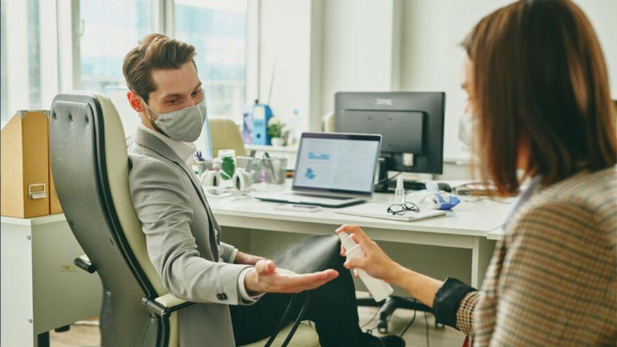 Imagem ilustrativa da notícia: Covid-19: como reduzir contágio no ambiente de trabalho