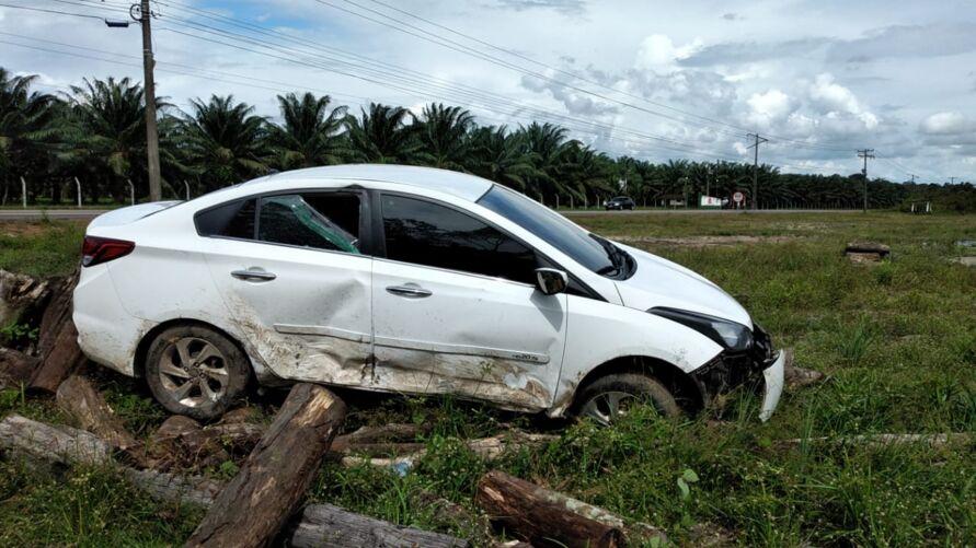 Um acidente foi registrado na estrada de Mosqueiro-PA.