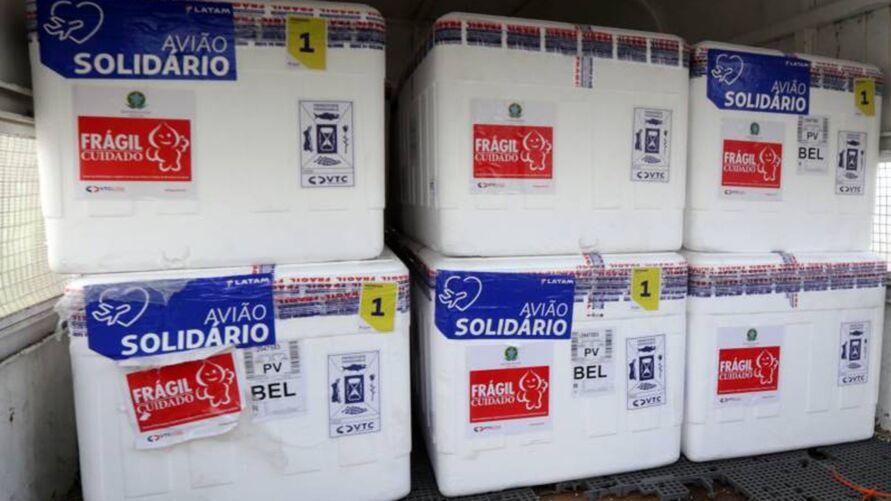 Imagem ilustrativa da notícia: Nova remessa com quase 100 mil vacinas é distribuída no Pará