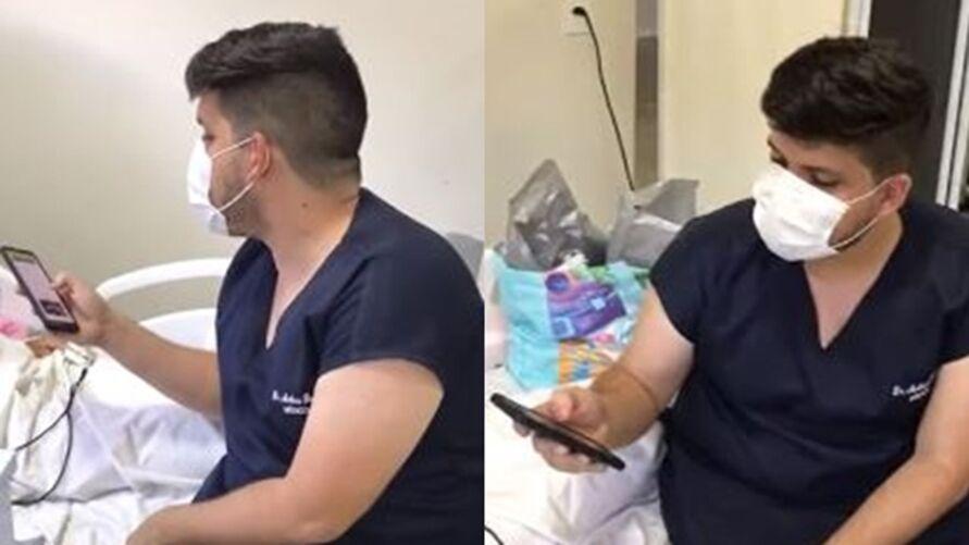 Imagem ilustrativa da notícia: Médico canta pouco antes de paciente morrer de covid-19