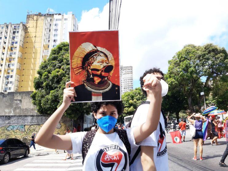 Imagem ilustrativa da notícia: Imagens da manifestação contra Bolsonaro