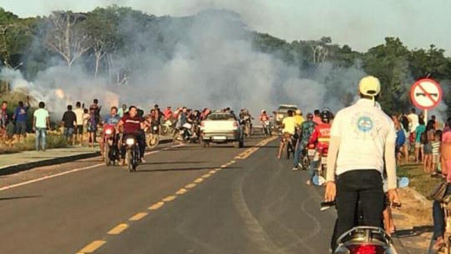 Garimpeiros entraram em conflito com indigenas em Jacareacanga.