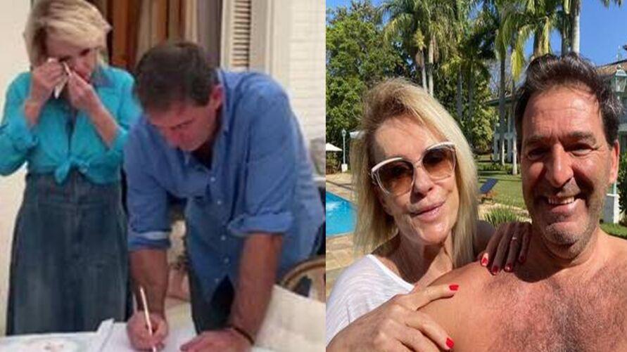 Ana Maria Braga e o francês Johnny Lucetse casaram em fevereiro de 2020.