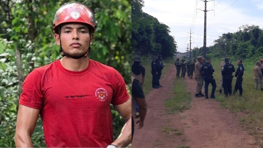 O soldado do Corpo de Bombeiros Alan Tadeu foi uma das vítimas encontradas no local