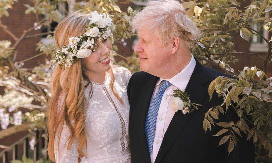 Boris Johnson e Carrie Symonds.