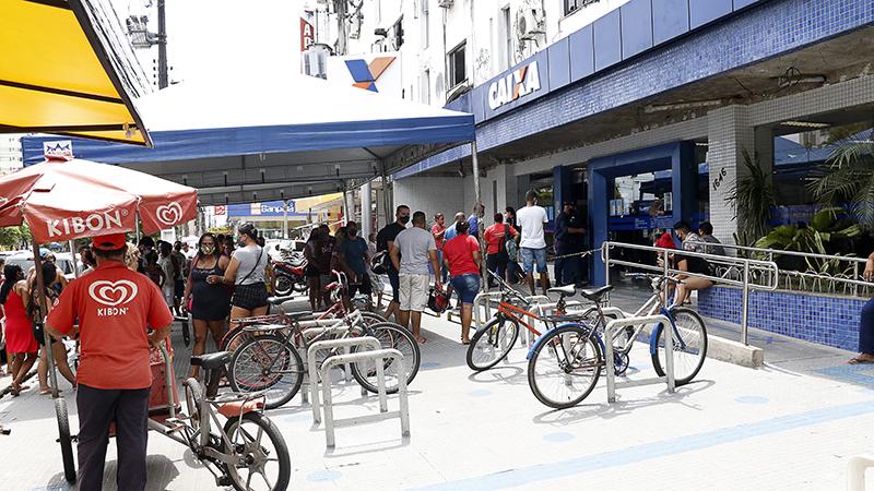 Agência da Caixa no bairro da Pedreira, em Belém