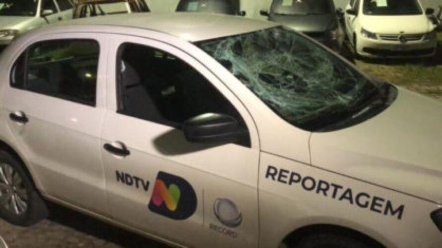 Imagem ilustrativa da notícia: Equipe da Record é agredida durante filmagem em SC
