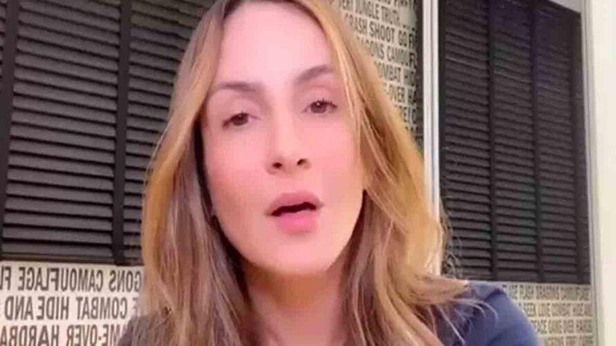 Claudia resolveu se posicionar após ser criticada pela falta de posicionamento