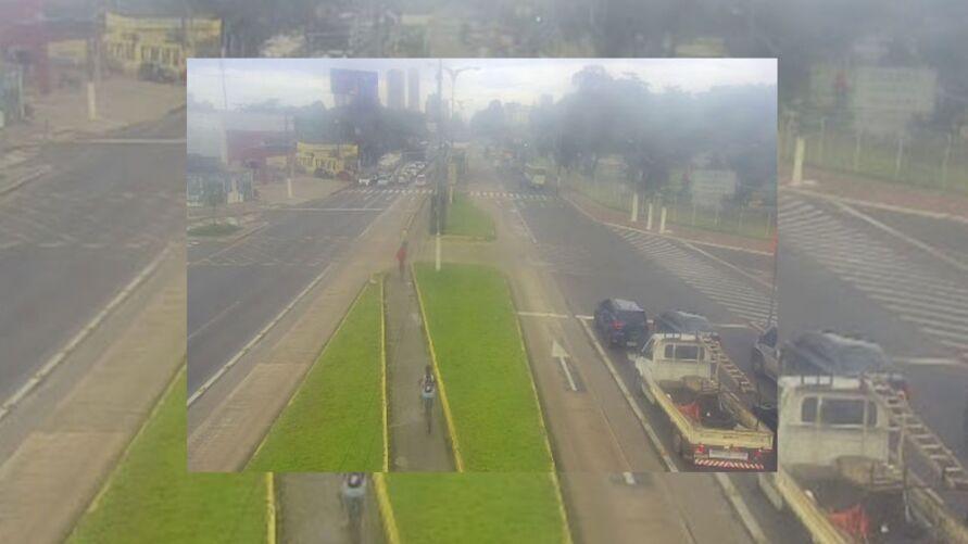 Imagem da avenida Almirante Barroso na manhã de hoje