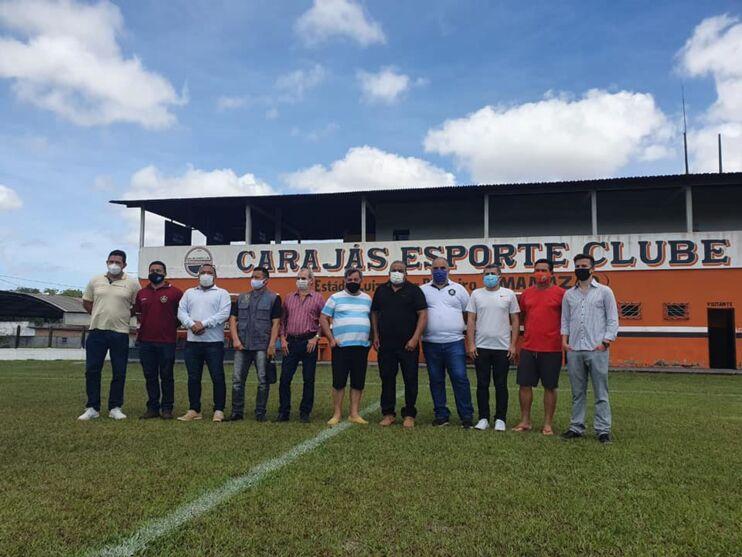 Dirigentes de Remo e Carajás estiveram reunidos hoje no complexo do Mamazão