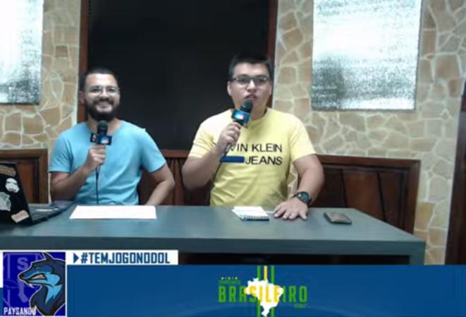 Lucas Contente e Diego Beckman no comando do Tem Jogo no DOL
