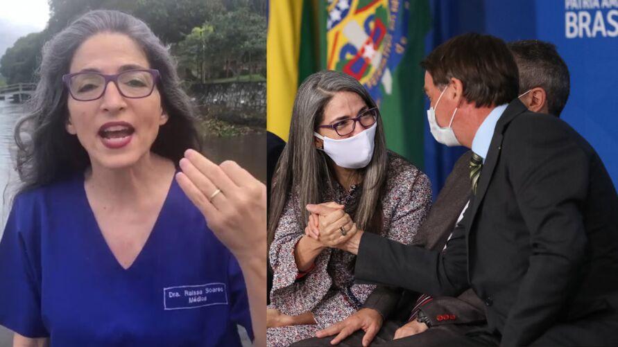 """""""Queridinha"""" de Bolsonaro, a médica Raissa Soares foi convidada a se filiar ao PTB para disputar vaga de senadora ou deputada federal."""