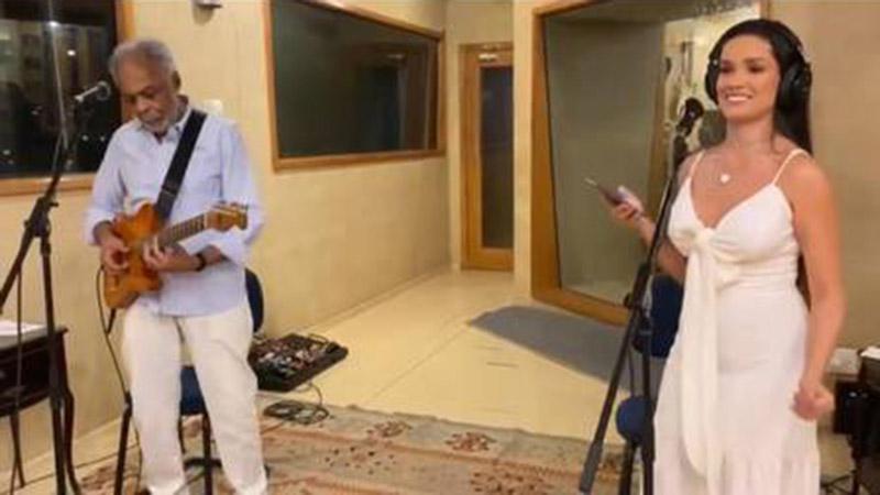 Juliette em ensaio com Gilberto Gil