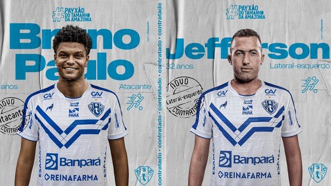 Bruno Paulo e Jefferson chegam para reforçar o Paysandu na Série C.