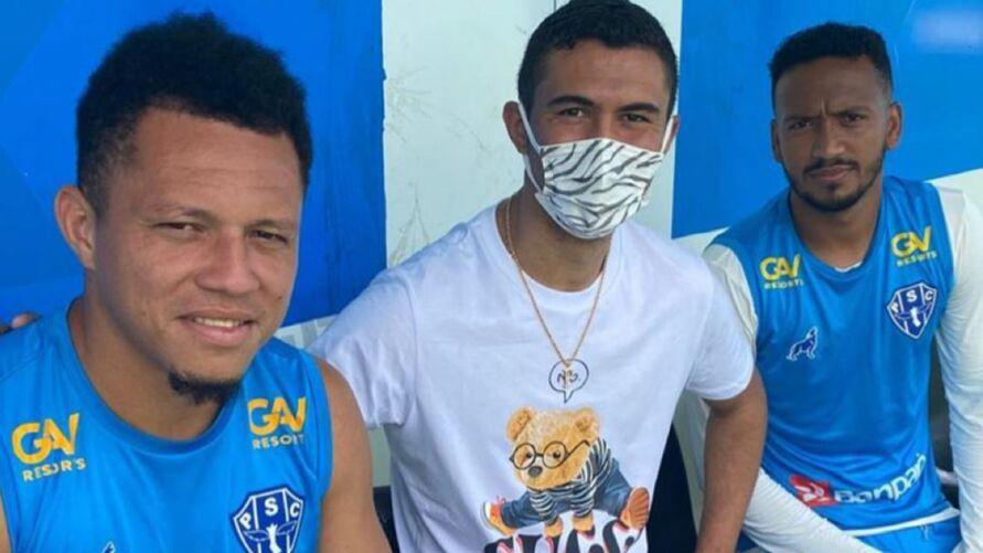 Pablo esteve na Curuzu visitando alguns jogadores do Paysandu