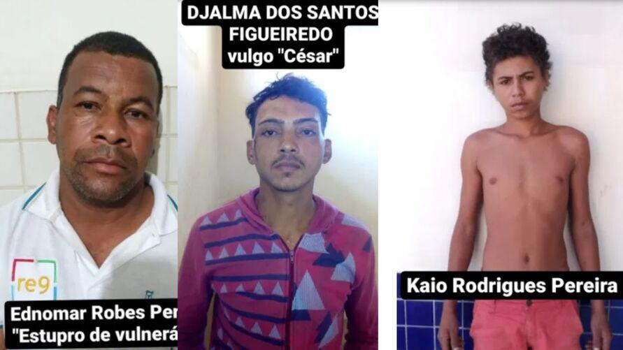 Três dos quatro presos que foram resgatados