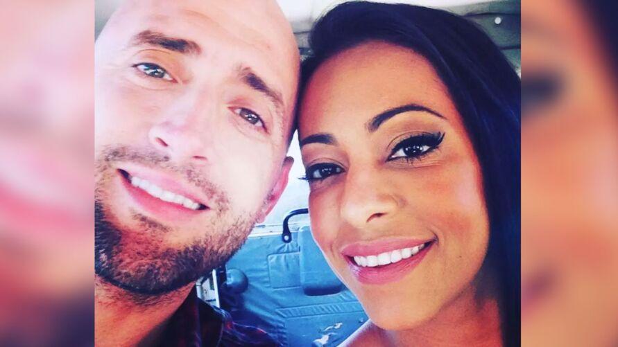 Paulo Gustavo e Samantha Schmutz