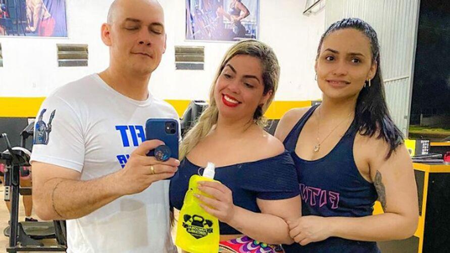 Sargentos da PM Alda Nery e Erisson Melo e administradora Darlene Oliveira