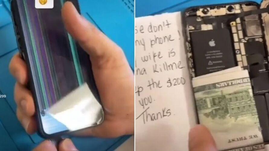 Homem suplica por meio de bilhete para que técnico não conserte aparelho
