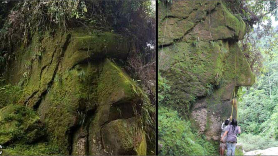 Imagem ilustrativa da notícia: Rosto humano gigante na Amazônia segue um mistério; assista!