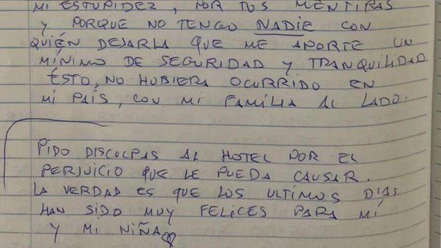 O homem deixou carta antes de pular de prédio de hotel com a filha no colo