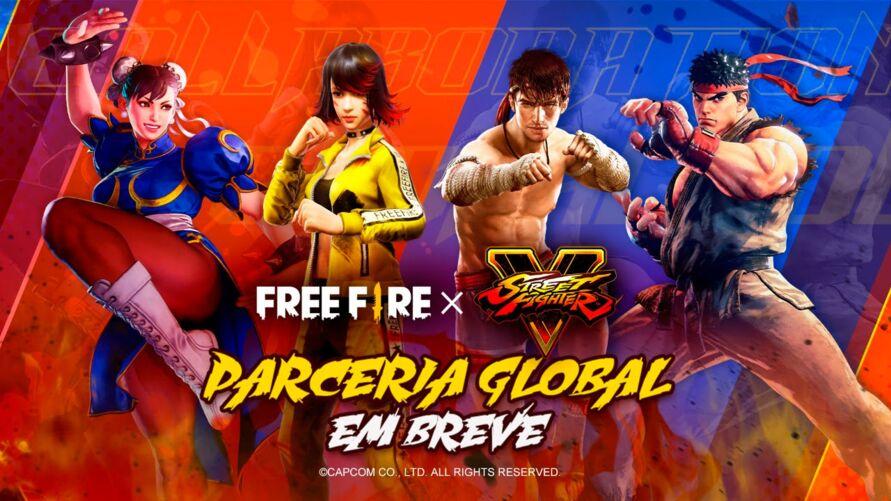 Imagem ilustrativa da notícia: Street Fighter chega ao Free Fire em julho