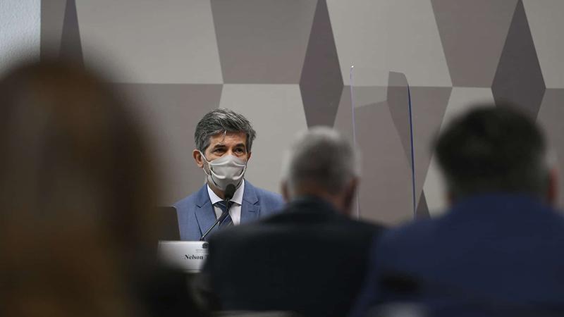 O ex-ministro Teich participou de sessão da CPI da Covid do Senado