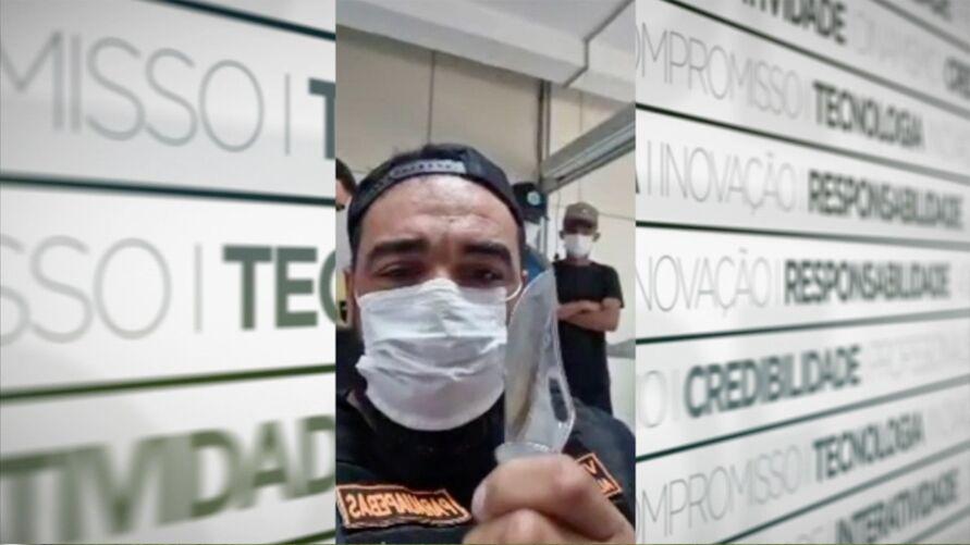 O Aurélio Goiano (PSD) fazendo ameaça ao servidor público.