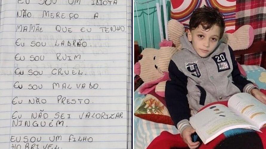 Caso Miguel: menino era forçado a anotar ofensas em caderno   Notícias  Brasil   Diário Online   DOL