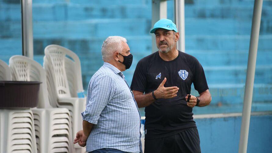 Eutrópio e Maurício Ettinger: Relação do Paysandu com treinadores nos últimos anos é bastante instavél.