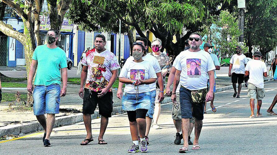 Por causa da pandemia da Covid-19, no ano passado o Círio de Nazaré foi realizado sem romarias