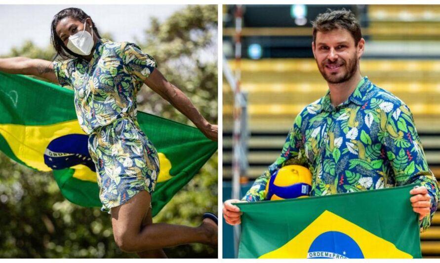 A judoca Ketleyn Quadros e o jogador de vôlei Bruninho serão os porta-bandeiras da delegação.