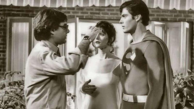Richard Donner nos bastidores em Superman, em 1978